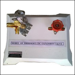 CUT SECTION MODEL OF THERMOSTATIC EXPANSION VALVE